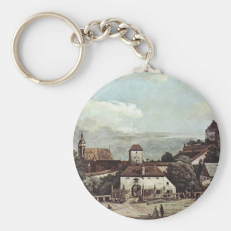 View Of Pirna Pirna Seen From The South Side Basic Round Button Key Ring