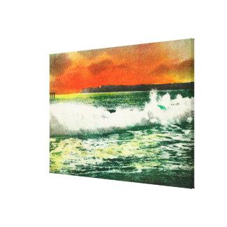 View of Point Loma at SunsetCoronado, CA Canvas Print