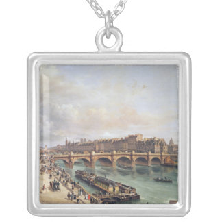 View of Pont Neuf, 1832 Silver Plated Necklace
