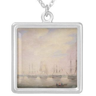 View of Port Adelaide, South Australia Silver Plated Necklace
