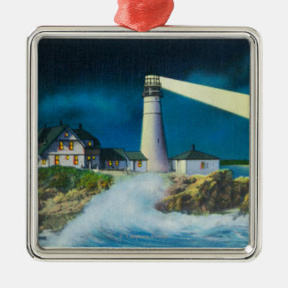 View of Portland Head Lighthouse on Casco Bay Ornaments