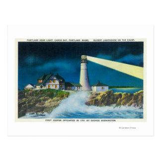 View of Portland Head Lighthouse on Casco Bay Postcard