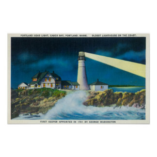 View of Portland Head Lighthouse on Casco Bay Print