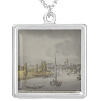View of Potsdam, c. 1796 Silver Plated Necklace