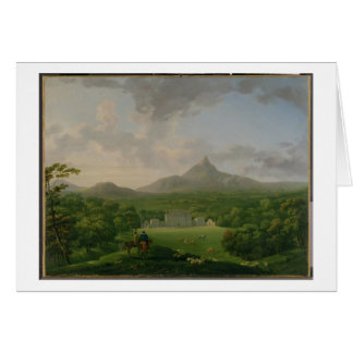 View of Powerscourt, County Wicklow, c.1760-2 (oil Cards