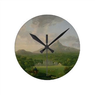 View of Powerscourt, County Wicklow, c.1760-2 (oil Round Clock