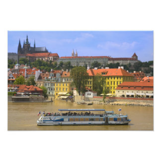 View of Prague Castle and town by Vltava Photo Print