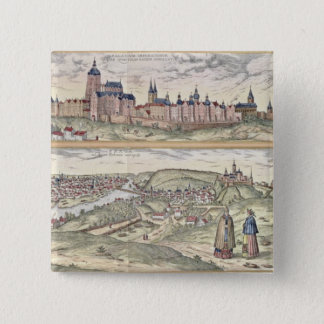 View of Prague showing (above) the Imperial Palace 15 Cm Square Badge