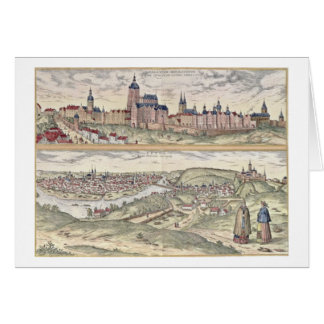 View of Prague showing (above) the Imperial Palace Card