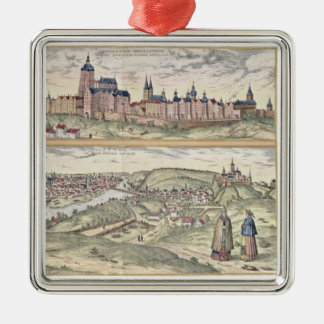 View of Prague showing (above) the Imperial Palace Christmas Ornament