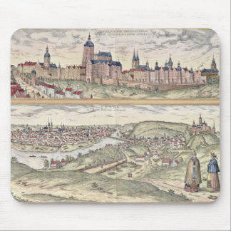 View of Prague showing (above) the Imperial Palace Mouse Mat