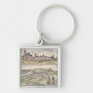 View of Prague showing (above) the Imperial Palace Silver-Colored Square Key Ring