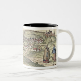 View of Prague showing (above) the Imperial Palace Two-Tone Coffee Mug