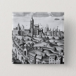 View of Prague showing the Imperial Palace and the 15 Cm Square Badge