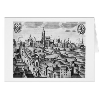 View of Prague showing the Imperial Palace and the Card
