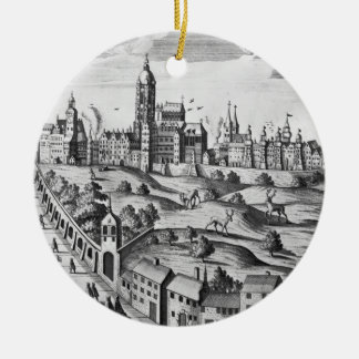 View of Prague showing the Imperial Palace and the Christmas Ornament