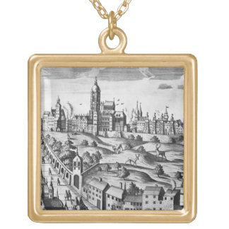 View of Prague showing the Imperial Palace and the Gold Plated Necklace