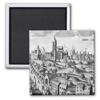 View of Prague showing the Imperial Palace and the Fridge Magnet