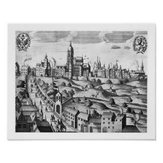 View of Prague showing the Imperial Palace and the Poster