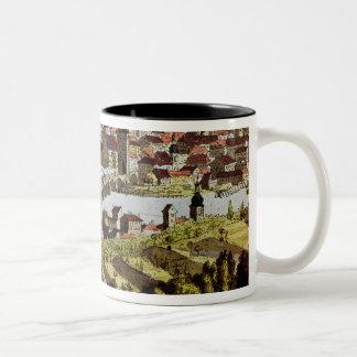 View of Prague Two-Tone Coffee Mug