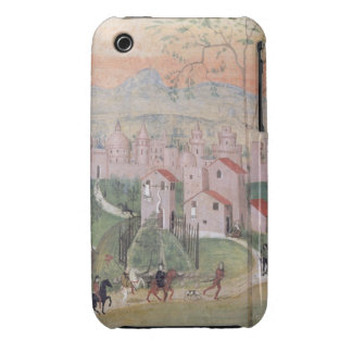 View of Prato City, detail from the Crucifixion, f iPhone 3 Case