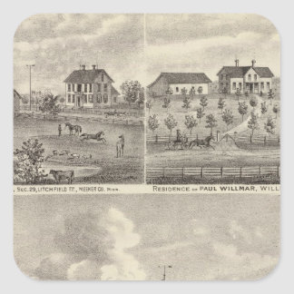 View of Public Park and Residence in Minnesota Square Sticker