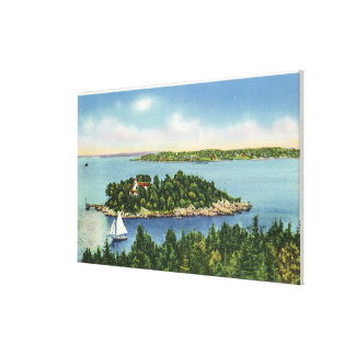 View of Pumkin Knob and Long Island Stretched Canvas Prints