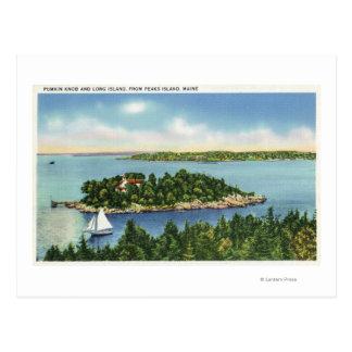 View of Pumkin Knob and Long Island Postcard