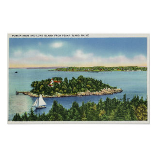 View of Pumkin Knob and Long Island Poster