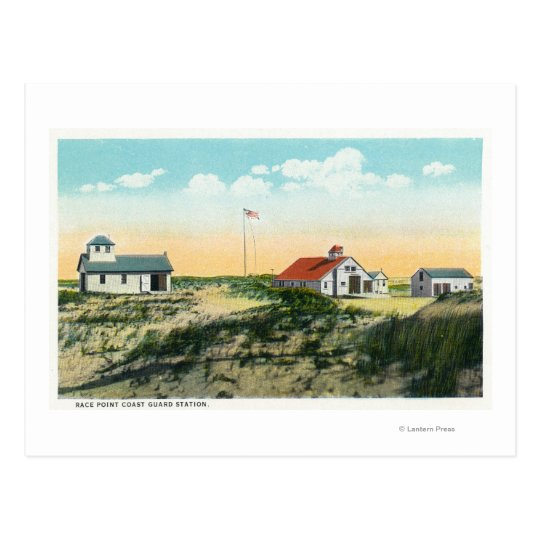 View of Race Point Coast Guard Station Postcard