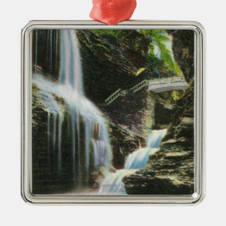 View of Rainbow Falls Christmas Ornament