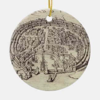 View of Rhodes, from 'Theatre of the Main Towns in Christmas Ornament