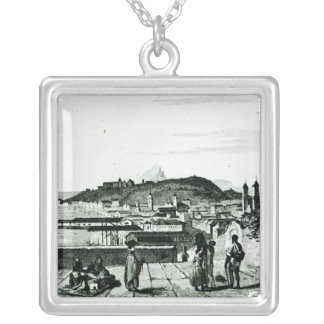 View of Rio de Janeiro from the church Silver Plated Necklace
