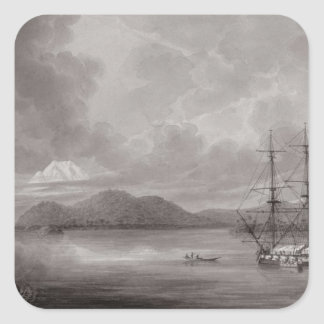 View of Rio de Manila (lithograph) Square Stickers