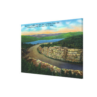 View of Rock Cut on Cadillac Mt Viewing Eagle Canvas Print