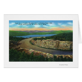 View of Rock Cut on Cadillac Mt Viewing Eagle Greeting Card