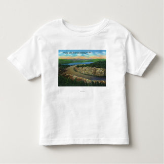 View of Rock Cut on Cadillac Mt Viewing Eagle Toddler T-Shirt