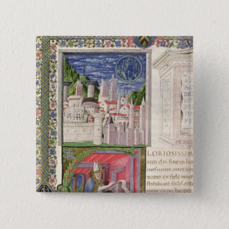 View of Rome as the City of God 15 Cm Square Badge