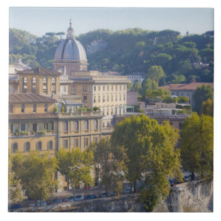 View of Rome from Castel Sant' Angelo Tile
