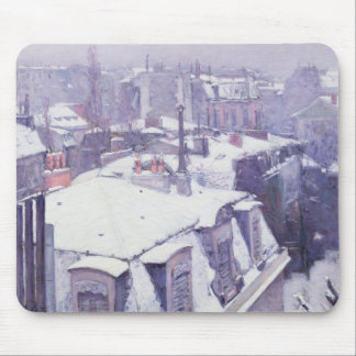 View of Roofs  or Roofs under Snow, 1878 Mouse Mat