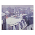 View of Roofs  or Roofs under Snow, 1878 Poster