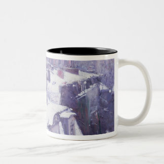 View of Roofs  or Roofs under Snow, 1878 Two-Tone Coffee Mug