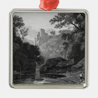 View of Roslin Castle Christmas Ornament