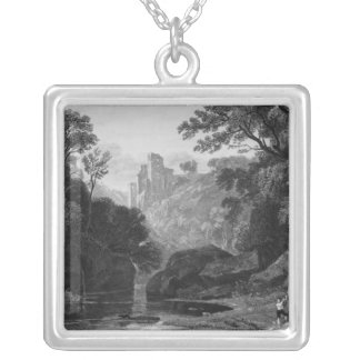 View of Roslin Castle Silver Plated Necklace