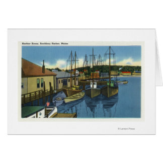 View of Sailboats Docked in the Harbor Card