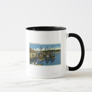 View of Sailboats Docked in the Harbor Mug