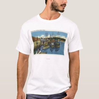 View of Sailboats Docked in the Harbor T-Shirt
