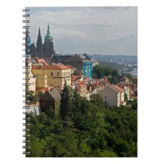 View of Saint Vitus's Cathedral, Prague, Czech Spiral Notebook