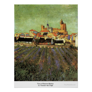 View of Saintes-Maries by Vincent van Gogh Poster
