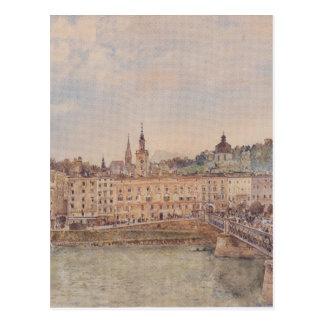 View of Salzburg by Rudolf von Alt Postcard